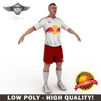 soccer player ny 3d max