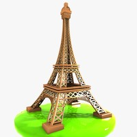 car eiffel tower 3d model