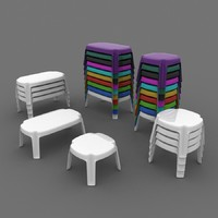 plastic table cafe 3d max
