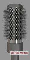 hair brush 3d fbx