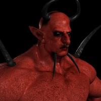 3d devil creature model