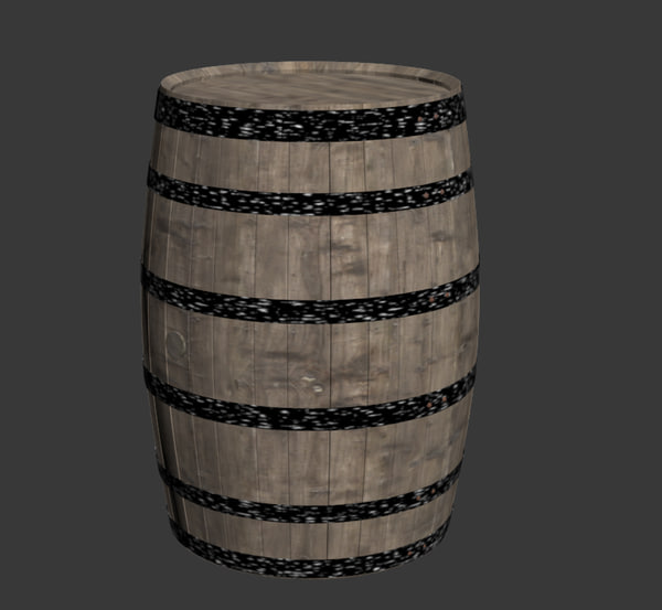 wooden barrel 3d max - Wooden barrel... by yamatano123