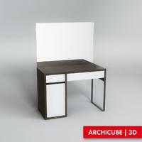 3d vanity table