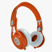 3d headphones monster beats model