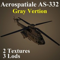 aerospatiale rnl helicopter 3d model