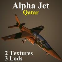 3d model alpha jet qat