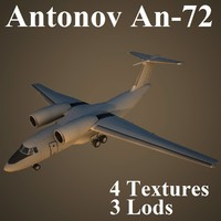 antonov an-72 low-poly max