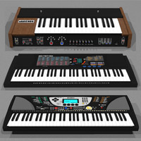 3d piano keyboard model