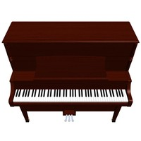 piano upright wood 3d max