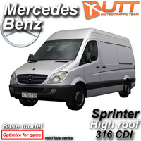 3d model of mercedes benz sprinter van