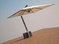 3d model ombrelone