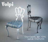 chair volpi capri l 3d obj