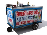 3d indian water thela