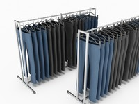 dress pants rack 3d 3ds