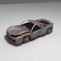 car destroyed 3d model