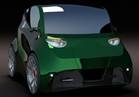 3d electric concept car