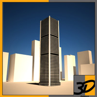 3d model la tour bourse english: