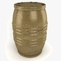 barrel lid old 3d model