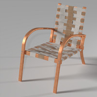 wood chair 3d model