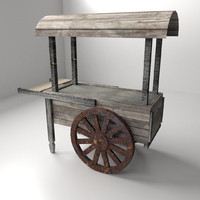 old food cart 3d 3ds