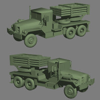 3d model multiple rocket launcher