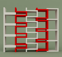 shelves bookshelf 3d model