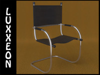 3d model of cantilever tube chair