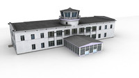 3d model airport kostroma ready games