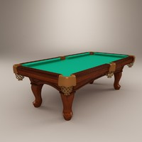 3d model berner billiards pool