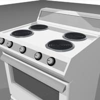 3d model open oven door