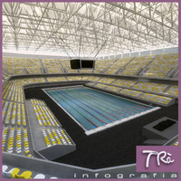 3d swimming pool indoor
