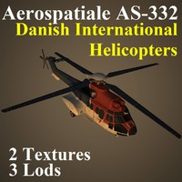 aerospatiale helicopters pal 3d model