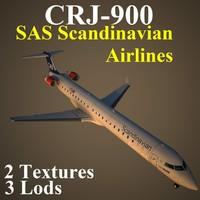 regional jet sas 3d model