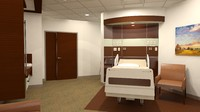 3d 300 patient room sf model