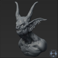 Goblin Headbust Sculpt