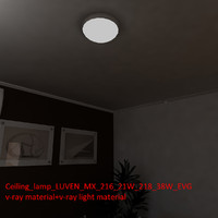 3d ceiling lamp luven mx model