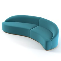 sofa curved 3d model