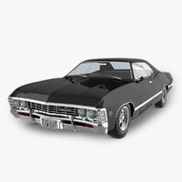 3d model 1967 chevrolet impala