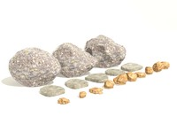 3d customisable boulders model