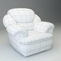 3d max basic armchair osvald