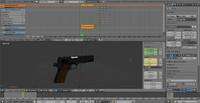 3d m1911 firing animation model