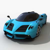 redesign pagani huayra 3d model