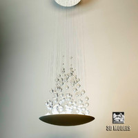 3d model visionnaire efesto chandelier