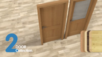 3ds max door set 2 pieces