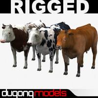 3d model dugm02 cow