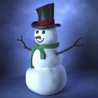 maya snowman snow man