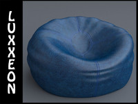 max leather beanbag bag