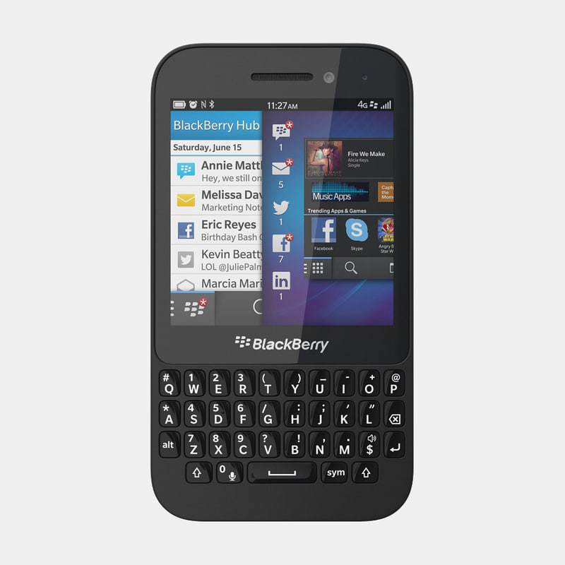 how to open blackberry q5