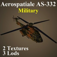 aerospatiale mil helicopter 3d max
