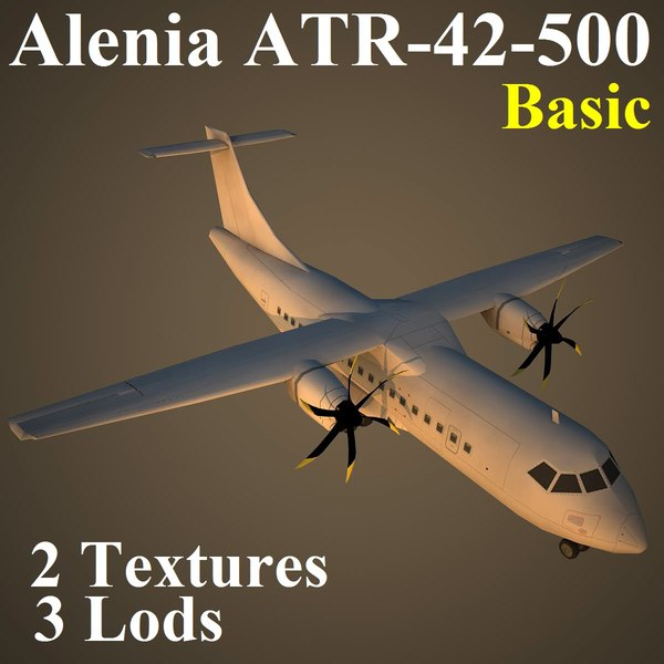 alenia basic 3d model - AT45 Basic... by Alexander Miller